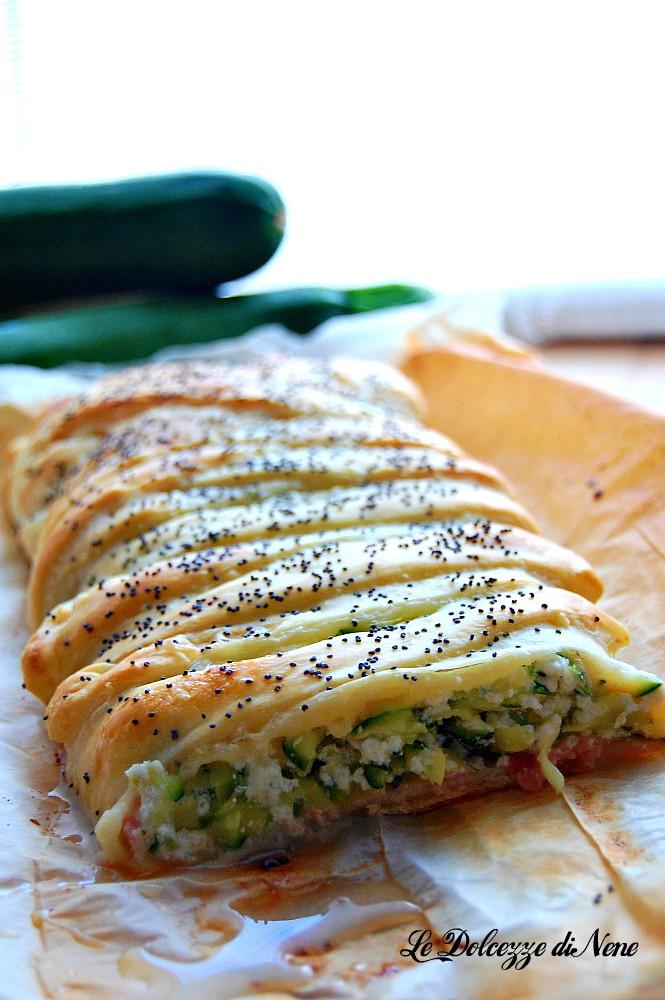 strudel zucchine cotto e ricotta