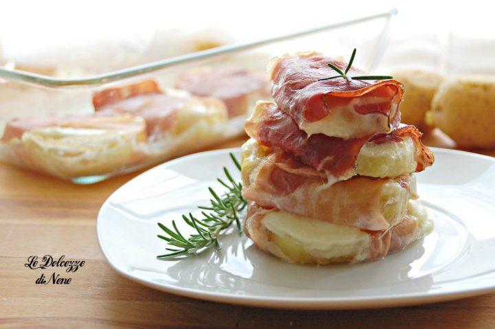 Medaglioni di patate mozzarella e speck