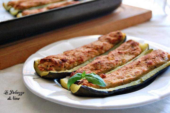 Zucchine Ripiene di Pesce Spada
