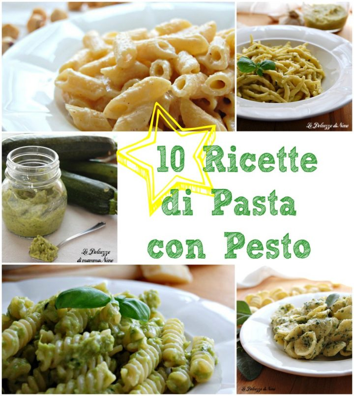 raccolta di ricette di pasta con pesto