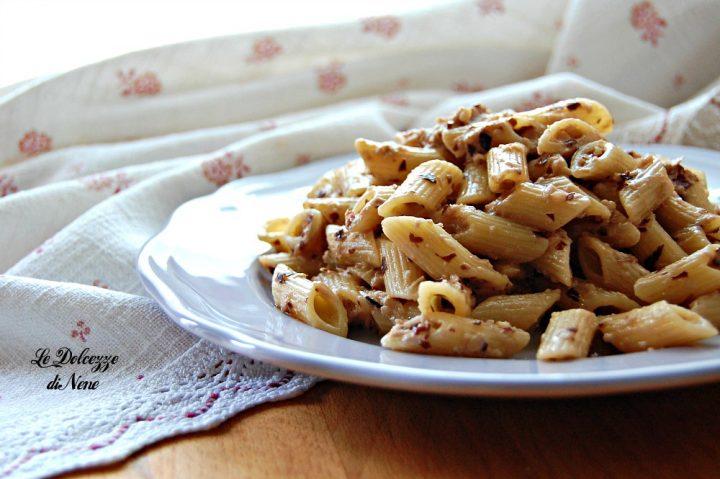 Pasta con Radicchio Ricotta e Noci
