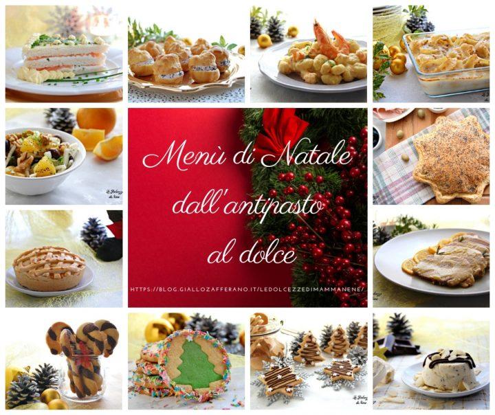 menu di Natale dall antipasto al dolce