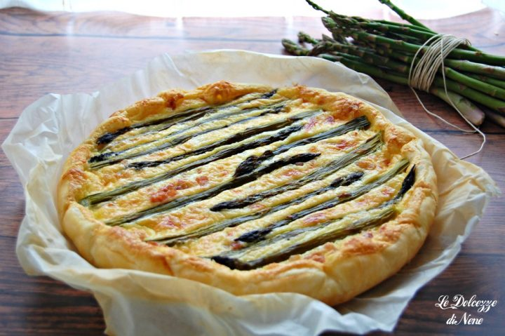 Quiche con pancetta e asparagi