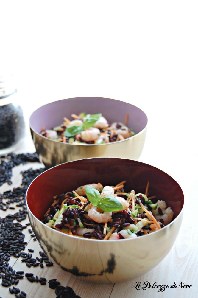 insalata di riso venere e gamberetti