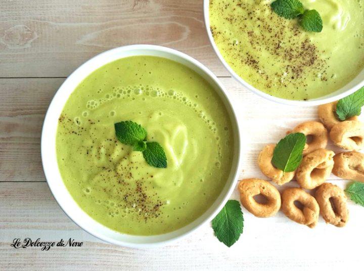 crema fredda di cetrioli e avocado