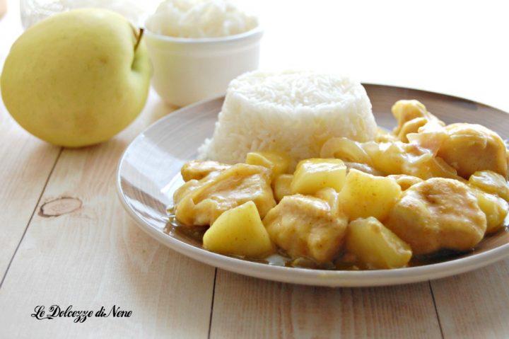 bocconcini di pollo e mele al curry