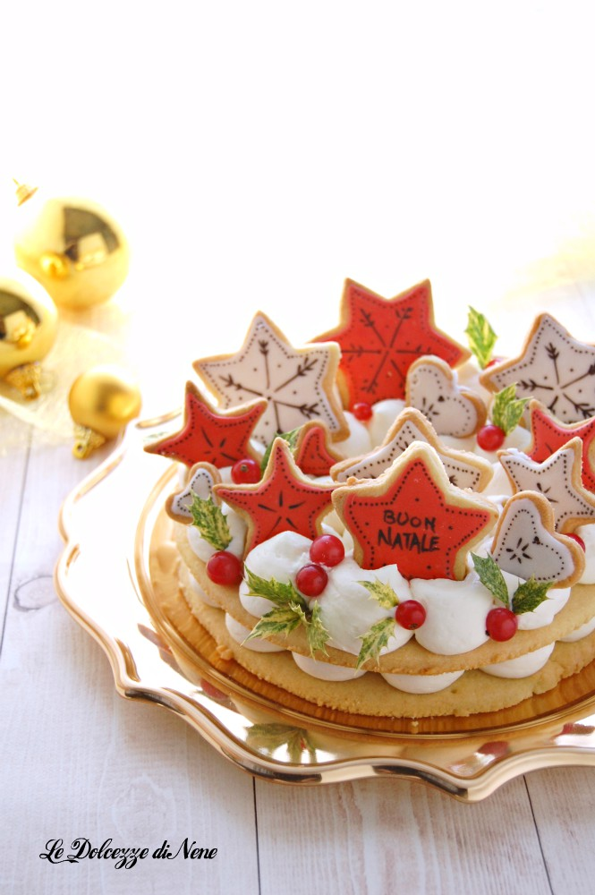 cream tart cake natalizia