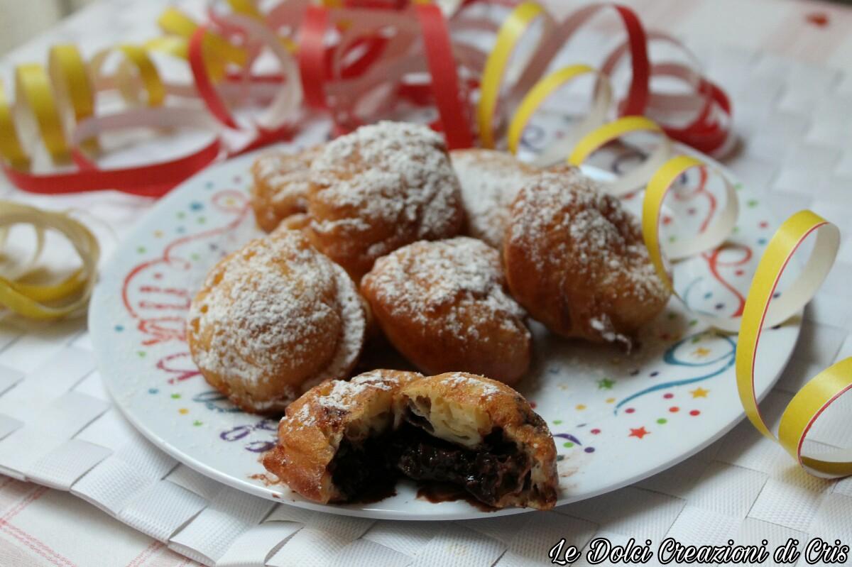 Frittelle di Carnevale al Cioccolato