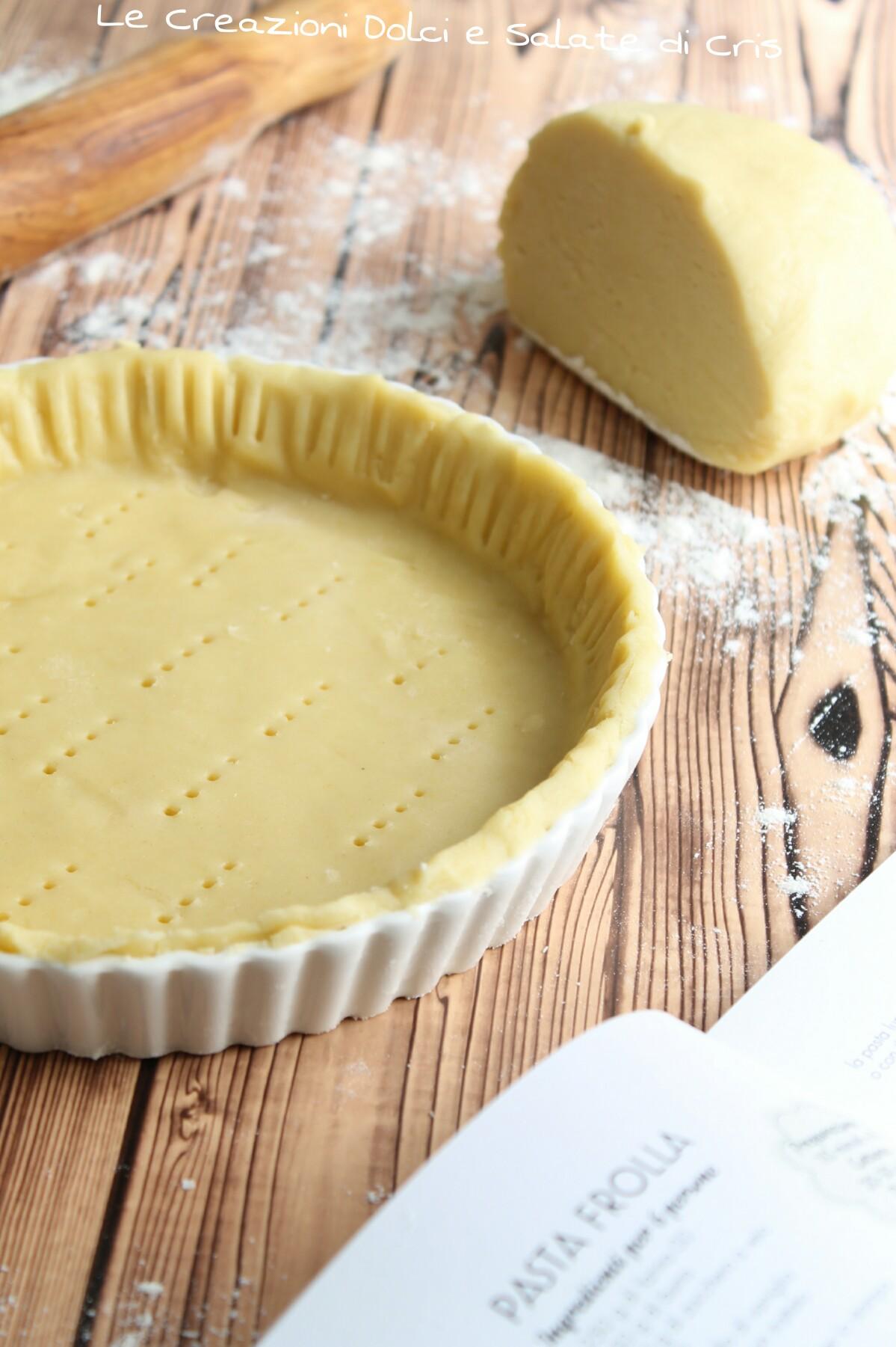 Ricetta Pasta Frolla Zucchero Normale.Pasta Frolla Con Zucchero A Velo Le Creazioni Dolci E Salate Di Cris