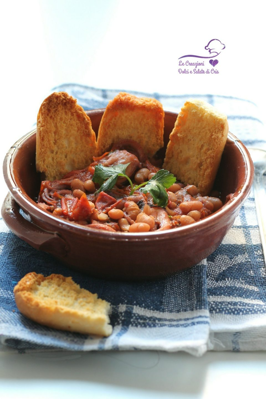 zuppa di moscardini e fagioli