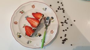 torta brownie con mascarpone