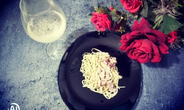 TAGLIOLINI AL TATUFO con cacio pepe e pancetta