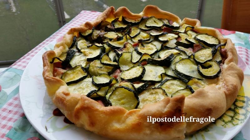 torta salata zucchine e wustel
