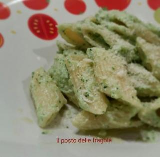 penne alla crema di broccoli