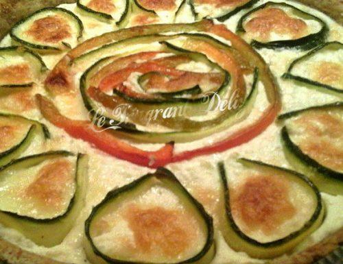 Quiche con Zucchine e Peperoni
