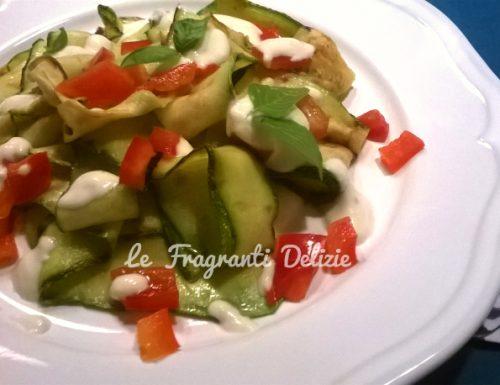 Zucchine grigliate in salsa