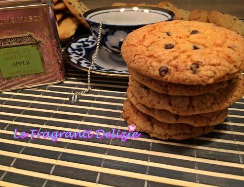 Cookies con gocce di cioccolato fondente