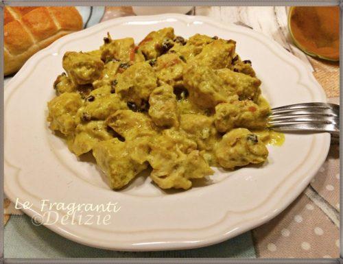 Pollo cremoso al curry