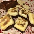 mattonelle al cioccolato bianco e fondente ripiene