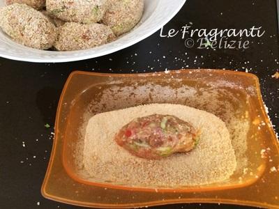 Polpette di carne con peperoni e zucchine