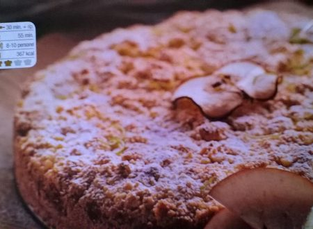 Torta sbriciolata alle mele con crema al limone