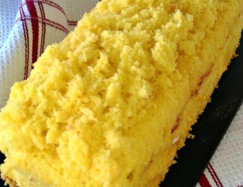 Plumcake mimosa farcito