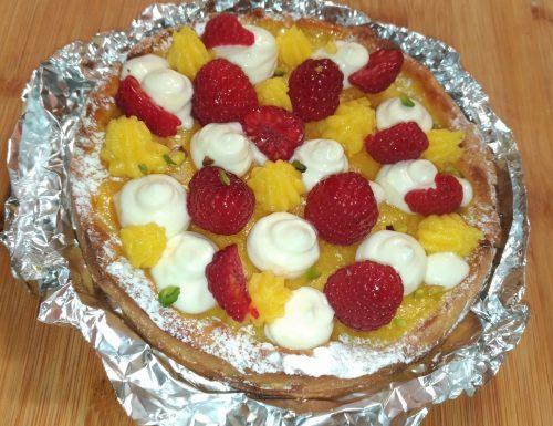 Crostata al limone, lamponi e mascarpone