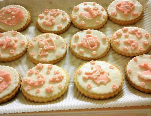 Biscotti decorati per festa di battesimo