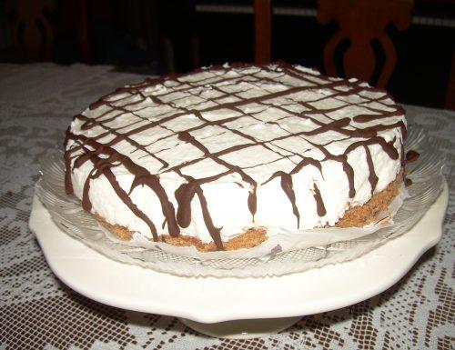 Cheesecake cocco e cioccolato fondente