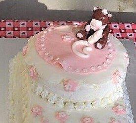 Torta decorata per battesimo bimba