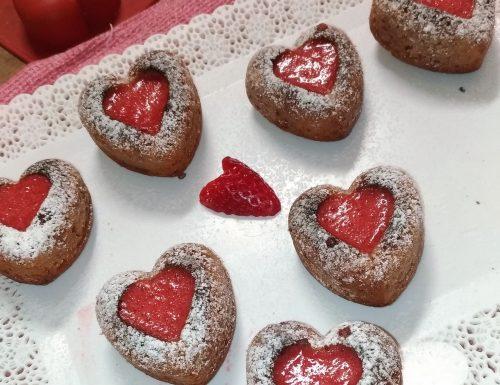 Tortini leggeri di San Valentino alle fragole