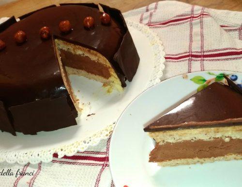 Torta moderna nocciole e cioccolato