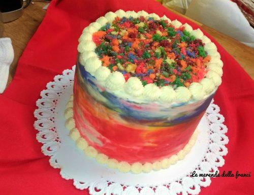 Rainbow cake- Torta arcobaleno senza glutine
