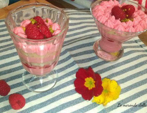 Coppe pink ai lamponi