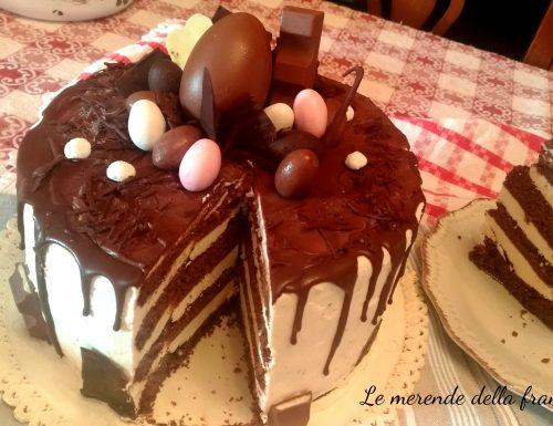 Drip cake di Pasqua al cioccolato