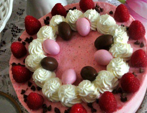 Torta mousse ai lamponi