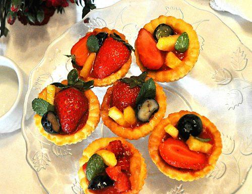 Crostatine veloci ai frutti rossi