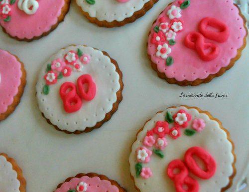 Biscotti decorati per compleanno 80 anni