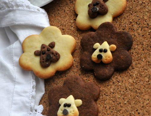 Biscotti leoncini di frolla