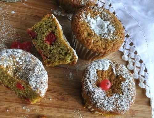 Muffin al tè verde e ribes