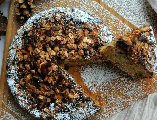Torta di banane cioccolato e muesli