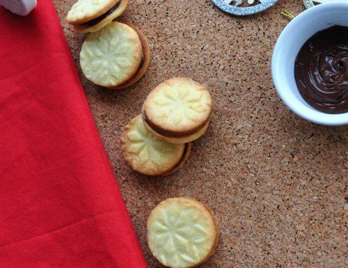 Biscottini a timbro con nutella