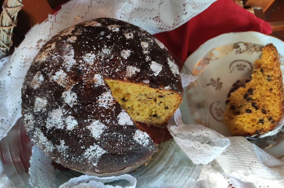 Panettone con zucca e cioccolato