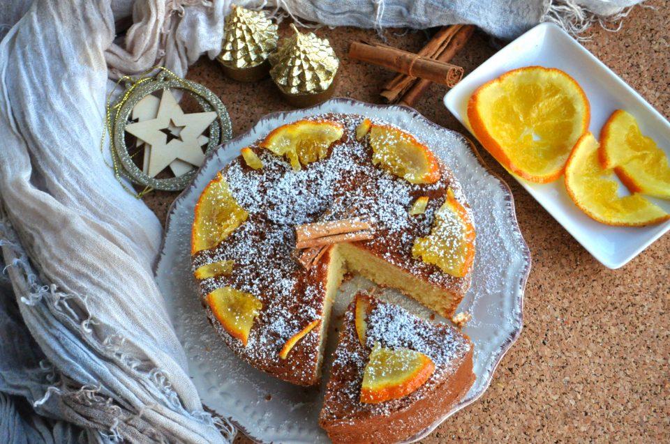Torta semplice arancia e cannella