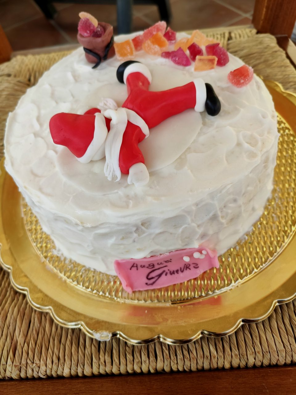 Torta decorata con Babbo Natale