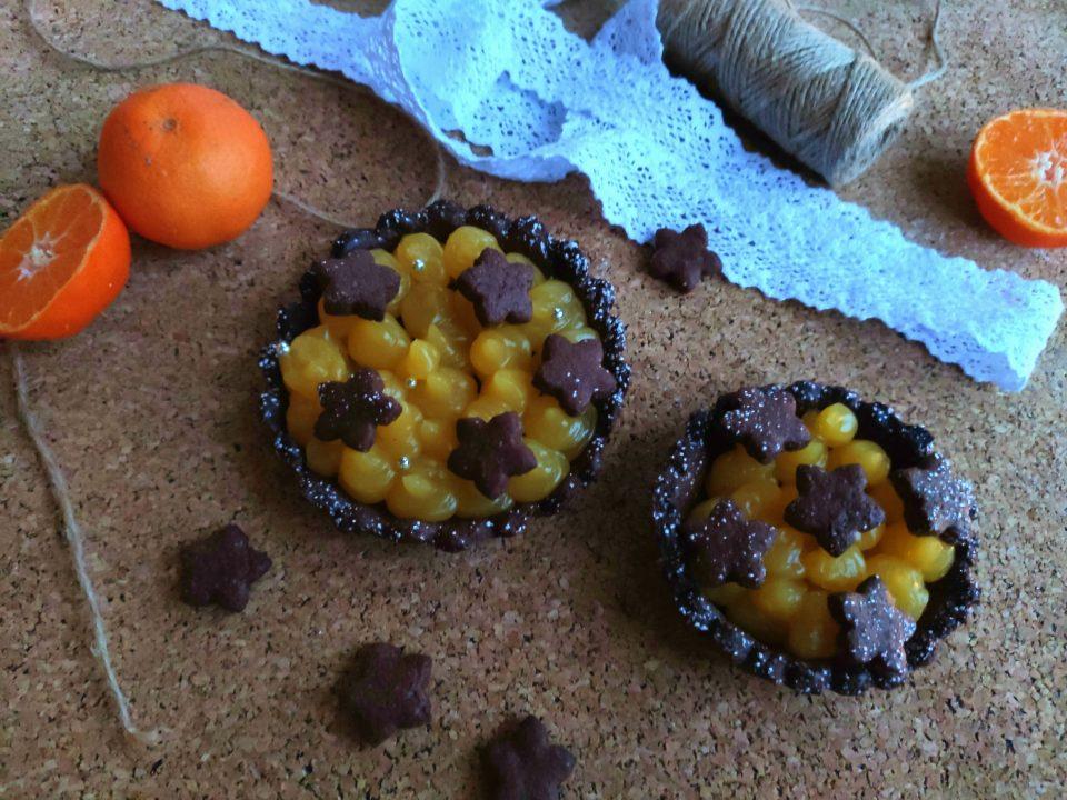 Crostatine con crema al mandarino