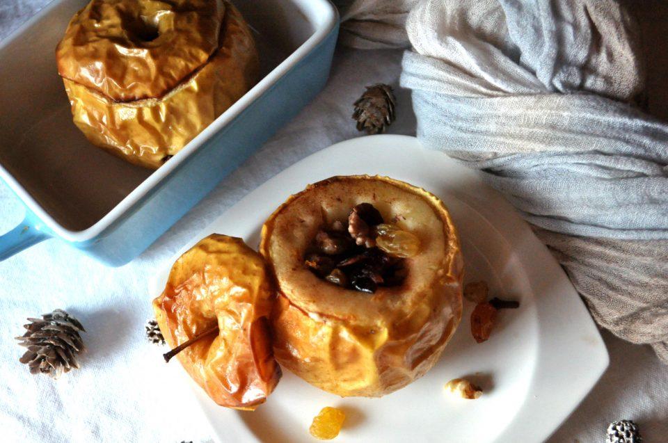 Mele al forno con frutta secca