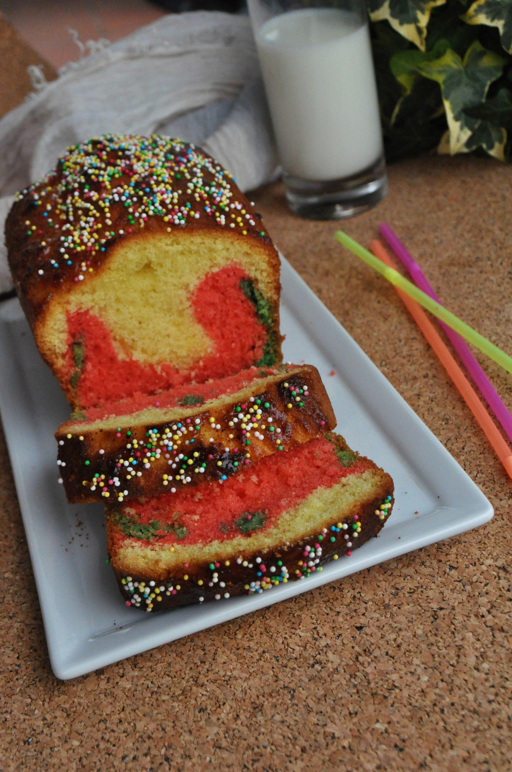 Plumcake soffice multicolor