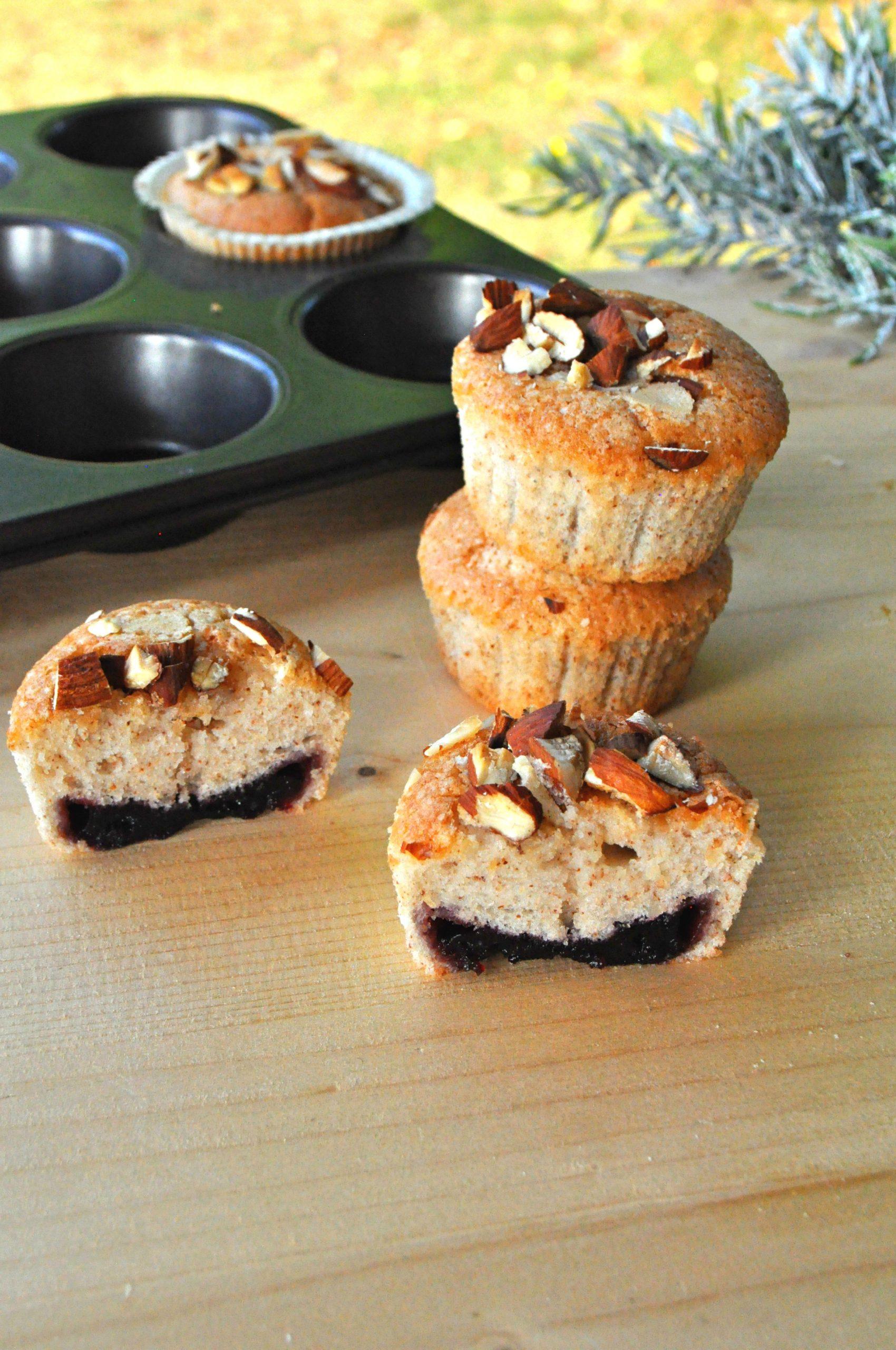 Muffin leggeri mandorle e albumi