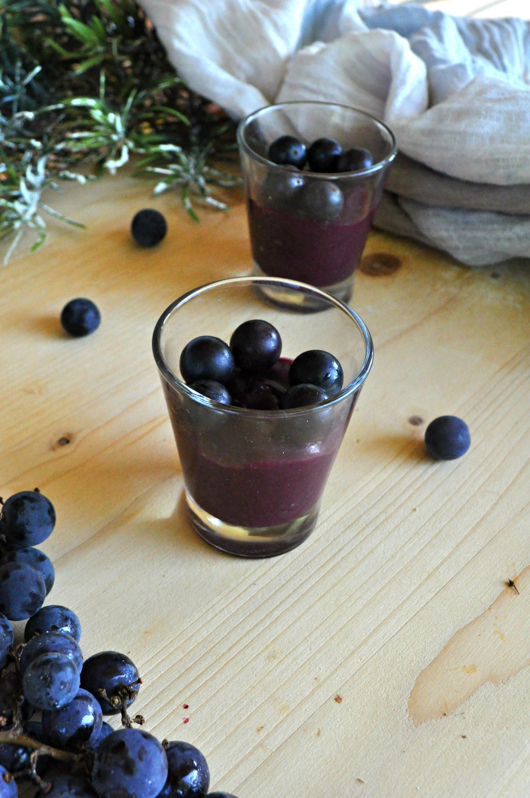 Sugo d'uva -Budino d'uva
